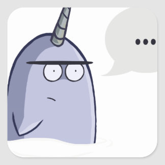 The Nothing Narwhal Square Stickers