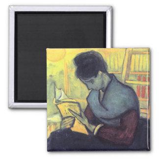 The novel reader by Vincent van Gogh Refrigerator Magnets
