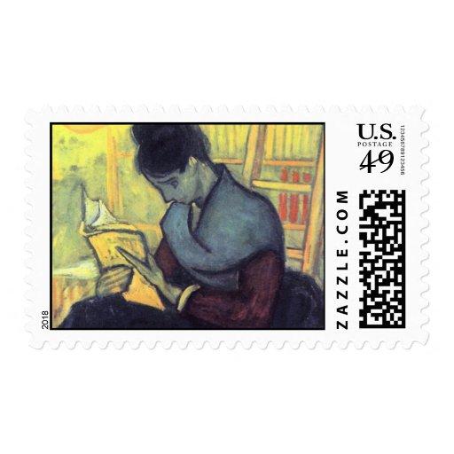 The novel reader by Vincent van Gogh Postage