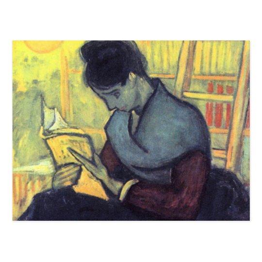 The novel reader by Vincent van Gogh Postcard