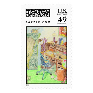 The Novelist Writes Her Memoirs Postage Stamps