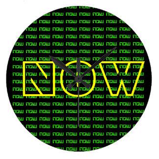 The NOW clock (digital, yellow, neon, green)