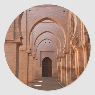 The now ruined and partly restored Tin Mal Mosque Classic Round Sticker