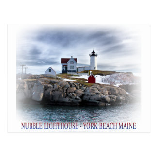 "The ""Nubble"" Cape Neddick lighthouse York, Maine Postcard"