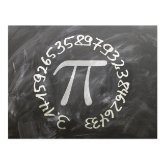 The Number π, or Pi Postcard