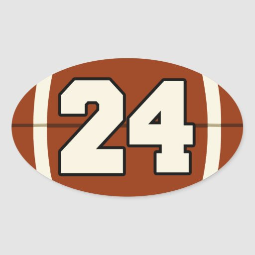 The Number 24 Football Sticker | Zazzle