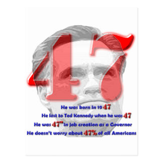 The Number 47 Postcard