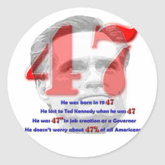 The Number 47 Round Stickers
