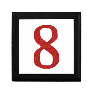 THE NUMBER 8 IN RED GIFT BOX