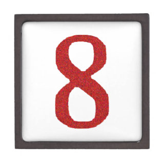 THE NUMBER 8 IN RED JEWELRY BOX