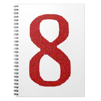 THE NUMBER 8 IN RED NOTEBOOK
