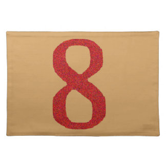THE NUMBER 8 IN RED PLACEMAT