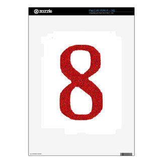 THE NUMBER 8 IN RED SKIN FOR THE iPad 2
