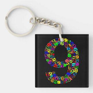 The Number Nine Keychain