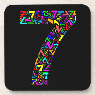 The Number Seven Drink Coaster