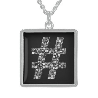 The Number Sign Sterling Silver Necklace