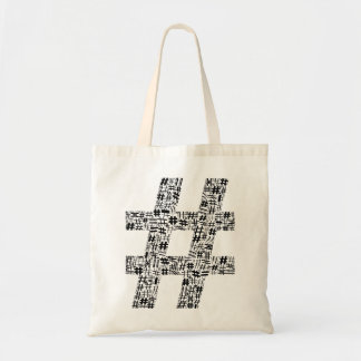 The Number Sign Tote Bag
