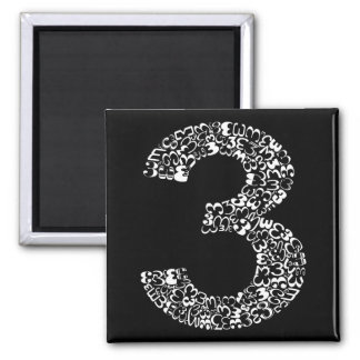 The Number Three Magnet