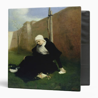 The Nun in the Cloister Garden, 1869 Vinyl Binder