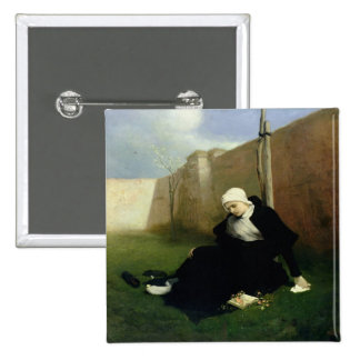 The Nun in the Cloister Garden, 1869 Pinback Buttons