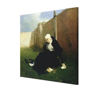 The Nun in the Cloister Garden, 1869 Canvas Print