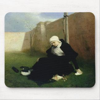 The Nun in the Cloister Garden, 1869 Mouse Pad