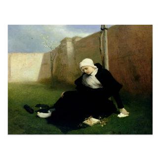 The Nun in the Cloister Garden, 1869 Postcard