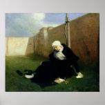 The Nun in the Cloister Garden, 1869 Poster