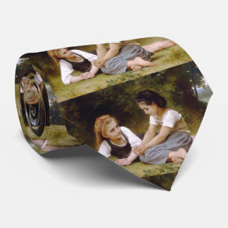 The Nut Gatherers Bouguereau Tie