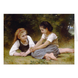 The Nut Gatherers by Bouguereau Card