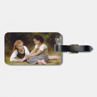 The Nut Gatherers by W.A. Bouguereau Bag Tag