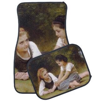 The Nut Gatherers by W.A. Bouguereau Car Mat