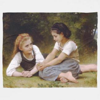 The Nut Gatherers by W.A. Bouguereau Fleece Blanket