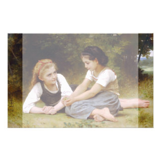 The Nut Gatherers by W.A. Bouguereau Flyer