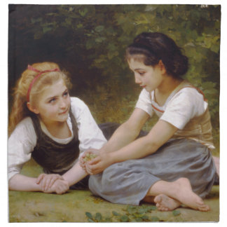 The Nut Gatherers by W.A. Bouguereau Napkin