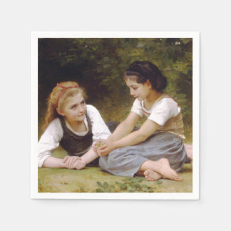 The Nut Gatherers by W.A. Bouguereau Paper Napkin