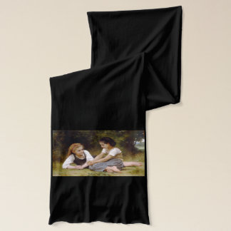 The Nut Gatherers by W.A. Bouguereau Scarf