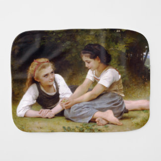 The Nut Gatherers by W.A. Bouguereau Baby Burp Cloths