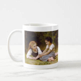 The Nut Gatherers by William Adolphe Bouguereau Classic White Coffee Mug