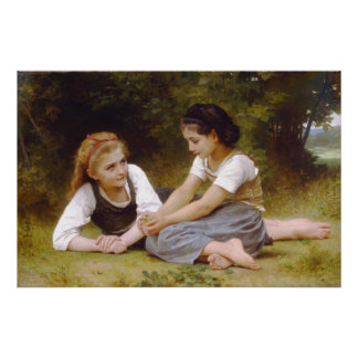 The Nut Gatherers by William Adolphe Bouguereau Poster