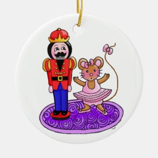 The Nutcracker Ballerina Ceramic Ornament