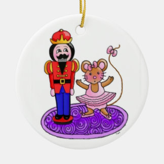 The Nutcracker Ballerina Double-Sided Ceramic Round Christmas Ornament