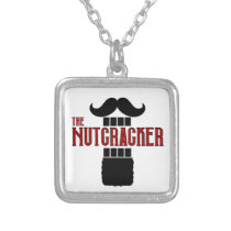 The Nutcracker Ballet Beard square Silver Plated Necklace