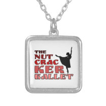 The Nutcracker Ballet Dancer square Silver Plated Necklace