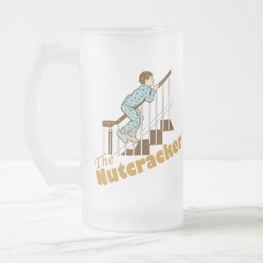 The Nutcracker Frosted Glass Beer Mug