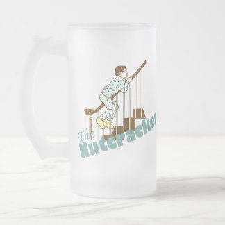 The Nutcracker Funny Frosted Glass Beer Mug