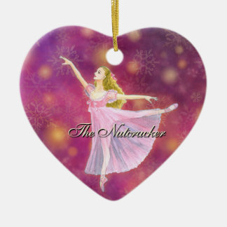 The Nutcracker Heart Ornament with Clara