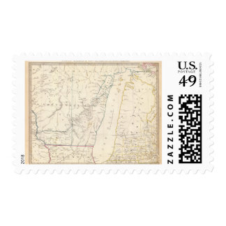 The NW and Mich territories Postage Stamp