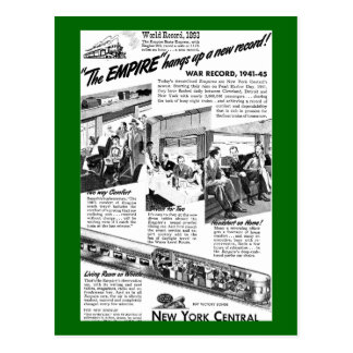 The NYC Empire Express 1945 Postcard