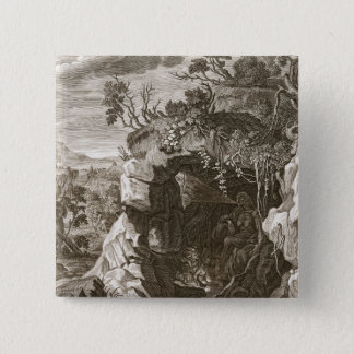 The Nymph Echo Changed into Sound, 1731 (engraving Pinback Button